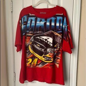 NASCAR #24 Jeff Gordon Front Back Print T-shirt